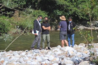 Técnicos del IH Cantabria y de ITAGRA.CT visitan del río Deva
